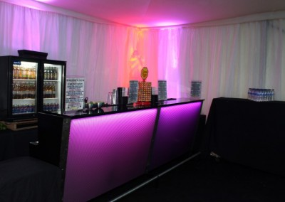 Our most popular colour changing cocktail bar
