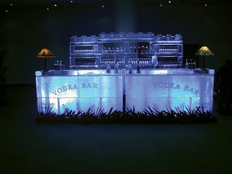 Frozen vodka cocktail bar hire