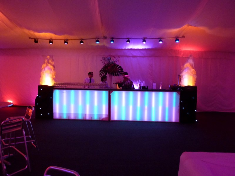 Colour changing cocktail bar