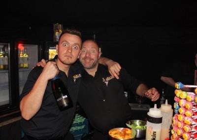 party guests bar men talent