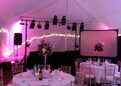 Video DJ Eugene Lighting rig set up