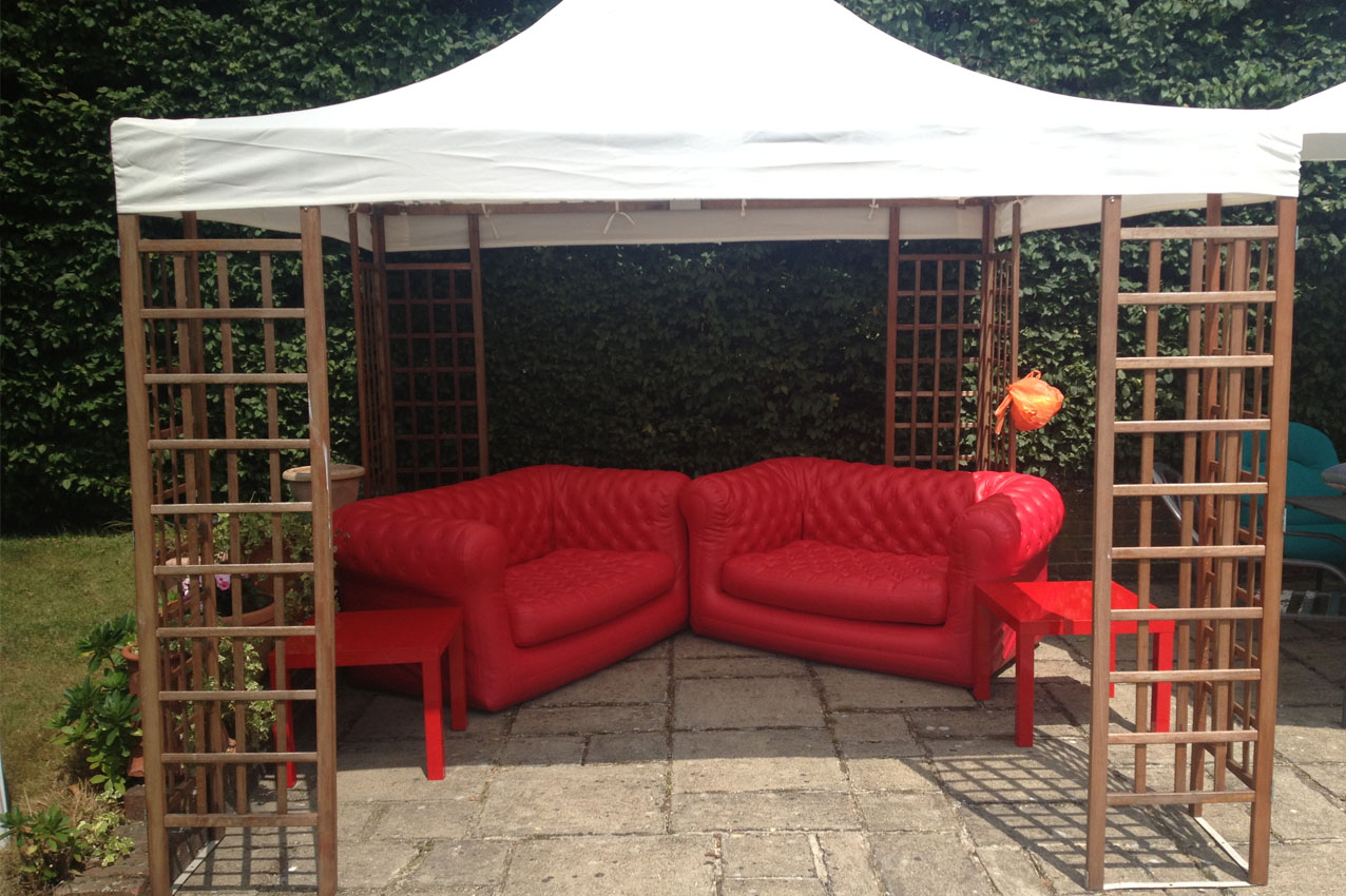 inflatable sofas to rent for event in Surrey and Kent, available for weddings and parties