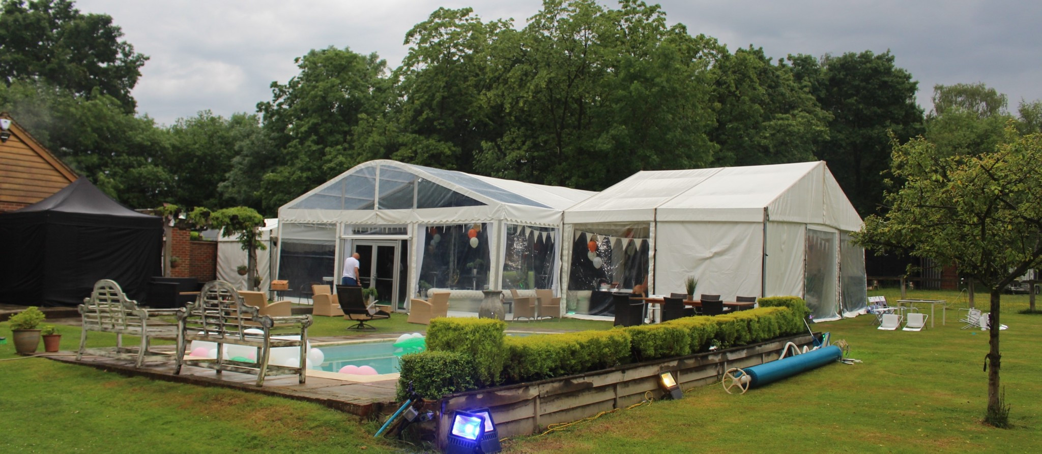 countryside marquee for hire with complete full party planning