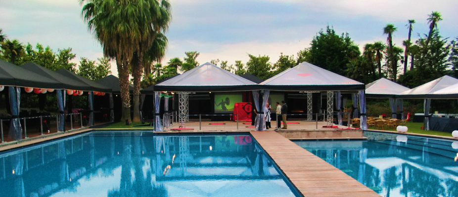 This marquee is for a special occasion or unique event to create an exciting atmosphere for guests