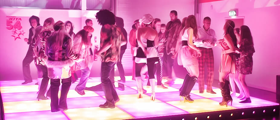 dance floor with lighting for party
