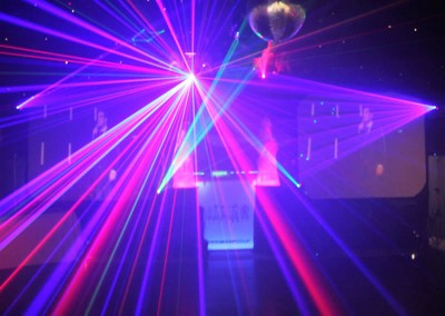 Video DJ Simon P Laser Light show
