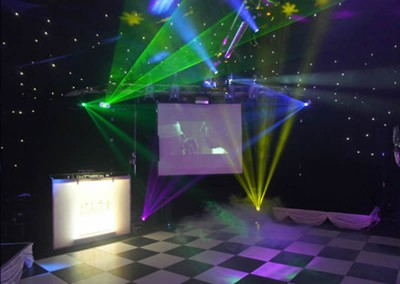 Video DJ set up with dance floor
