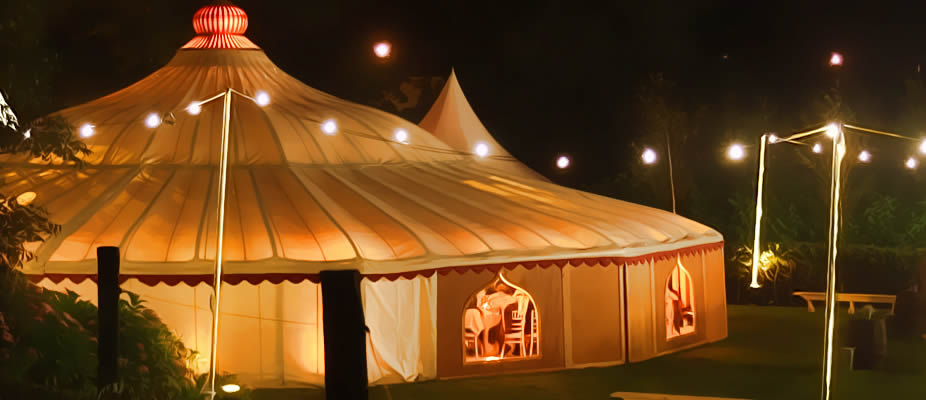 style marquee for a wedding or event in Surrey