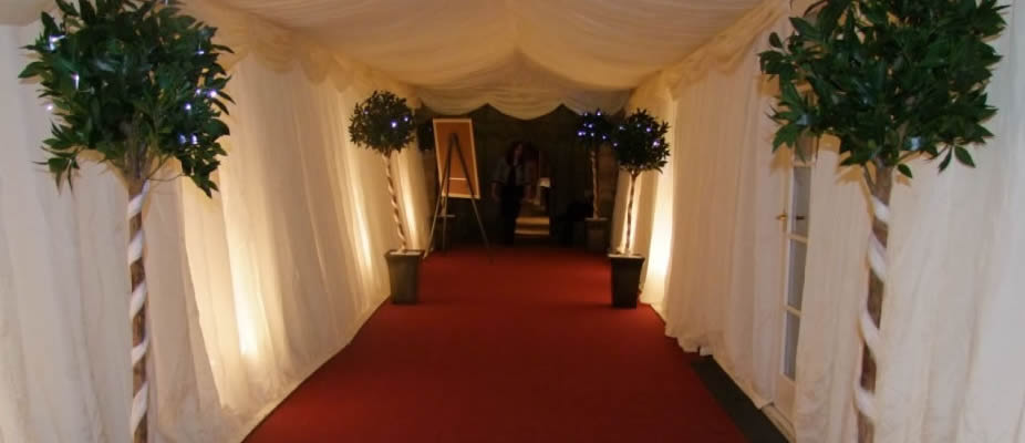walkway to put in a marquee for your special party