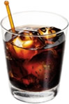 Standard Russian Vodka, Tia Maria & coke, served over ice in a high ball with a lime wedge