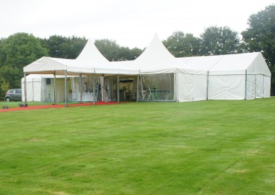Awning for wedding marquee
