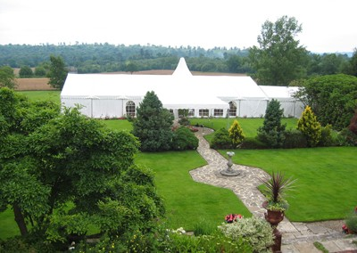 marquee in the beautiful countryside of Kent for wedding