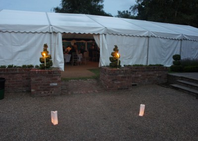 Traditional Marquee Entrance