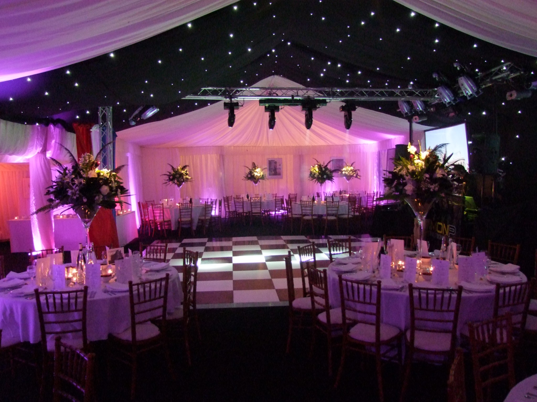 Framed Marquee Simon P Parties Amp Events
