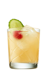 Gin, Elderflower Liqueur and apple juice served over ice, served with fresh raspberries
