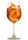 Prosecco, Aperol with a splash of soda water served in wine glass