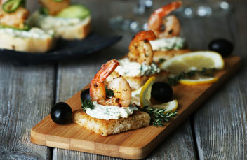 catering prawns starter or canape