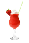 Light rum, strawberry liqueur, sugar, lime juice and fresh mashed strawberries strained into a martini glass and finished with a fresh strawberry garnish