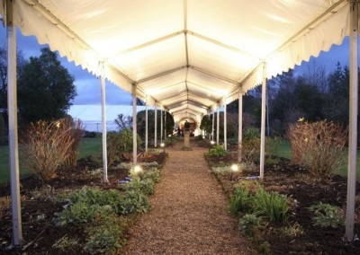 event walkway marquee