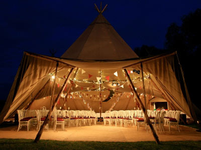 Beautiful Tipi marquee for a wedding ceremony