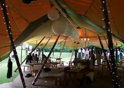 tipi marquee for a special unique wedding
