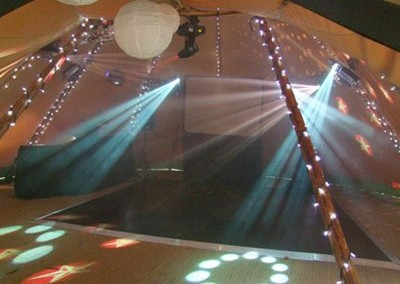 Dance( )floor in the Tipi marquee for wedding party