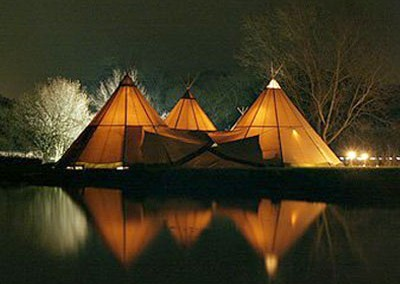 Giant Tipi over looking the lake